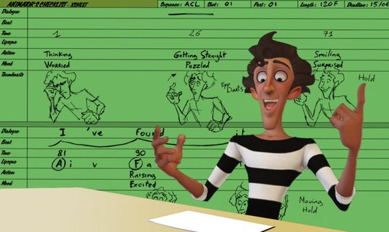The Animator´s Checklist | X-SHEET or The tool I use to plan my shot