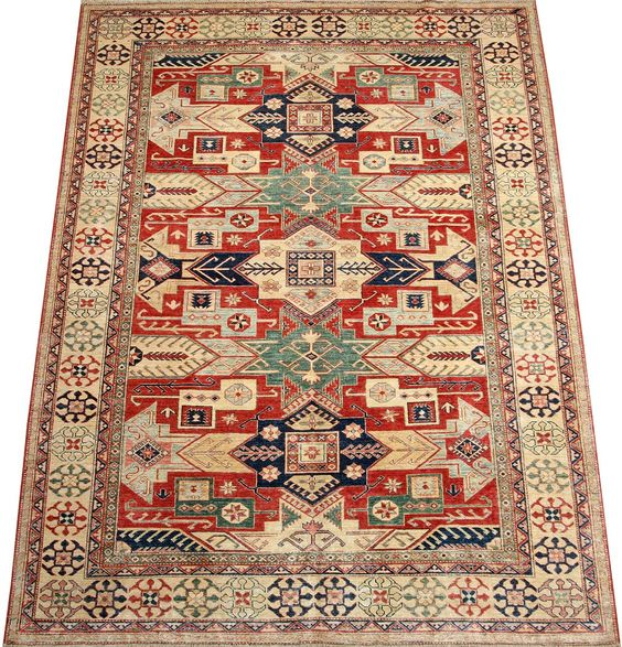 Today's Kazak is a modern shape of old Caucasian rugs which strictly adheres to traditional design elements of the Caucasus.  http://www.alrug.com/4449