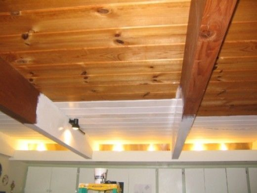 Patience... a how to for painting wood ceilings