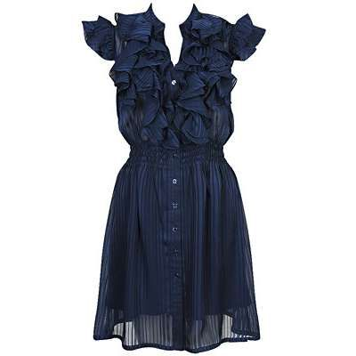 Ruffles & feminine -- would be so cute paired with boots