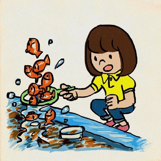 #金魚すくい #イラスト