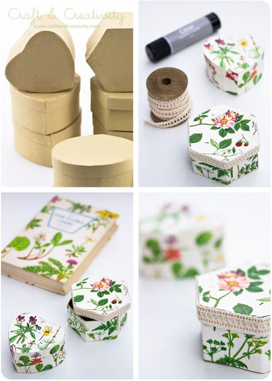 Diy Gift Boxes Covered With Book Pages Craft Diy Pinterest Creativity Diy And Crafts
