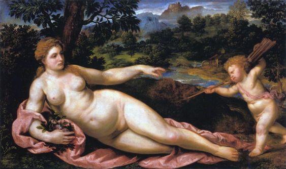 Paris Bordone -  Venus and Amor