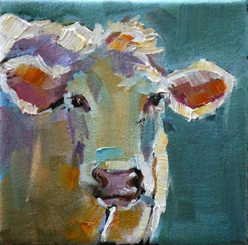 Easter cow original fine art for sale carol for Original fine art paintings for sale
