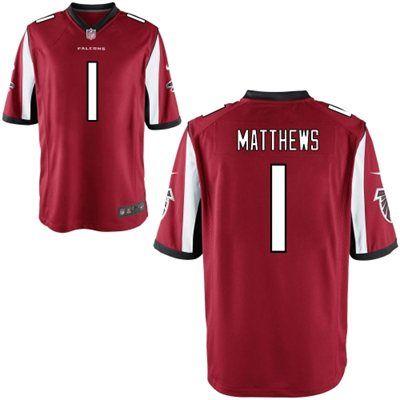 mens nike jake matthews atlanta falcons red 2014 nfl draft 1 pick game jersey