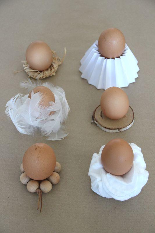 DIY Easter natural eggs