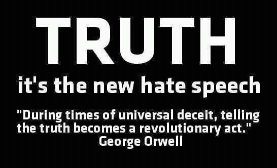Truth: The new hate speech?   political truths.....   Pinterest