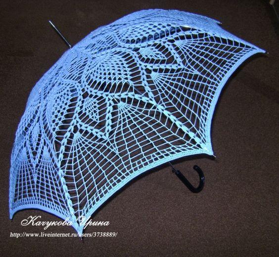 Homestead Survival: How to make crochet parasol umbrella - Upcycle an old umbrella frame DIY