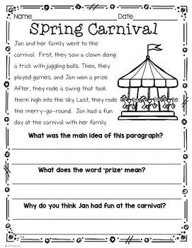 spring break  first grade and homework on pinterestspring break homework packet  first grade