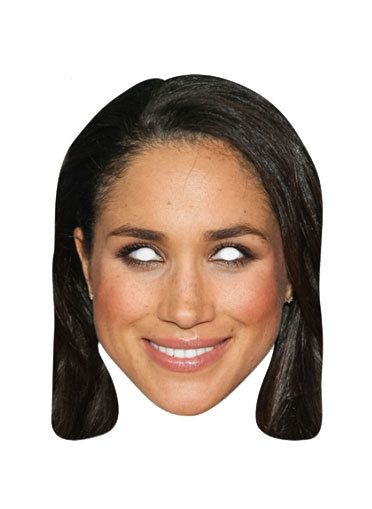 Celebrity Mask Card Face and Fancy Dress Mask Brown Hair Victoria Beckham