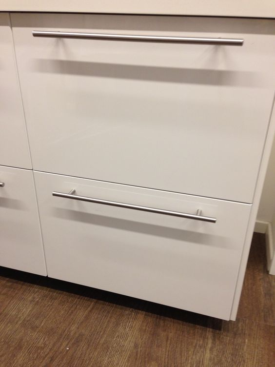 Ringhult kitchen cupboard doors from IKEA in gloss white with t ...