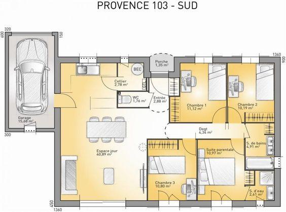 Plan maison gratuit sud france for Plan maison sud est