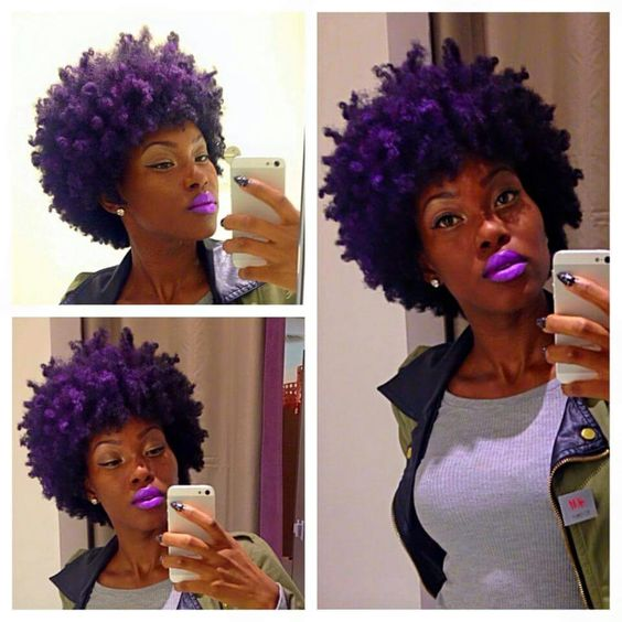 Purple fro!