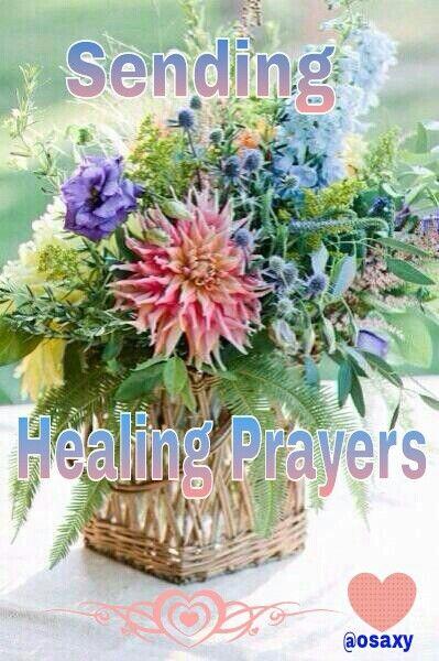 Sending healing prayers: