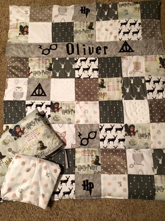 Harry potter quilt crib set because every child should sleep in a magical place baby boy - Harry potter crib set ...
