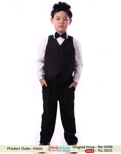 4 Piece Kids Formal Outfits Designer Baby Boy Party Wear