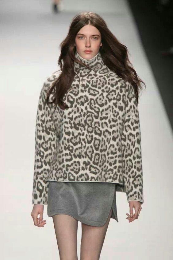Vanesa Bruno el reemplazo del negro el print leopardo