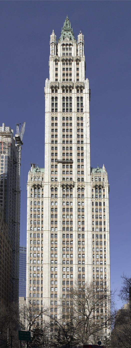 Woolworth Building. NYC - 792ft  Tallest building in the world from 1913 until…