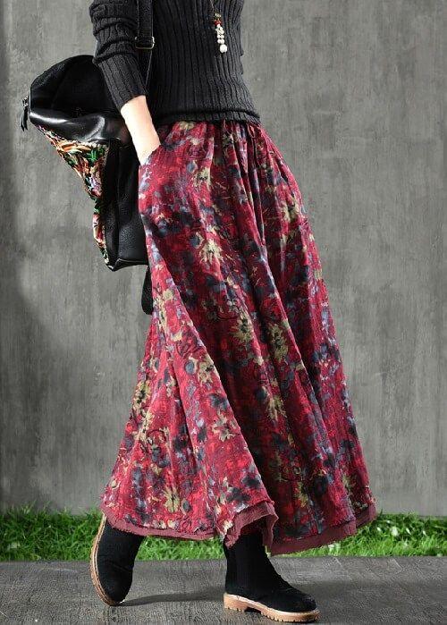 Długa spódnica patchwork | Hippie Style | Maxi skirt, Tie