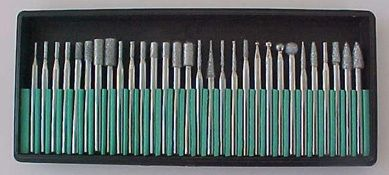'20 Diamond Burr Set for Dremel  Med Grit' is going up for auction at  5pm Sat, Feb 9 with a starting bid of $20.