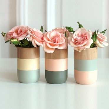 Vases pastel - Pinterest