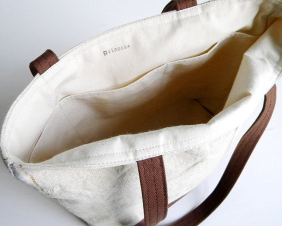 Recycled Grain Sack Canvas Tote Bag