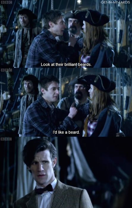 The Doctor's face :)