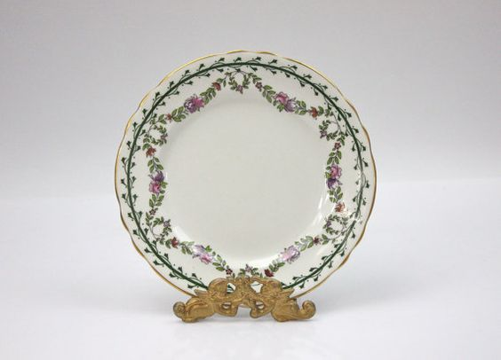 Antique Aynsley Plates ♥ See more at www.PeriodElegance.etsy.com