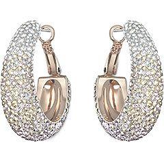Abstract Hoop Nude Pierced Earrings SWAROVSKI