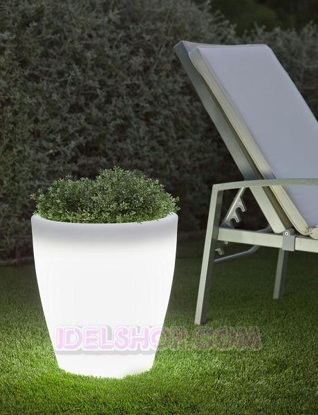 illuminazione da esterno vaso luminoso giardino