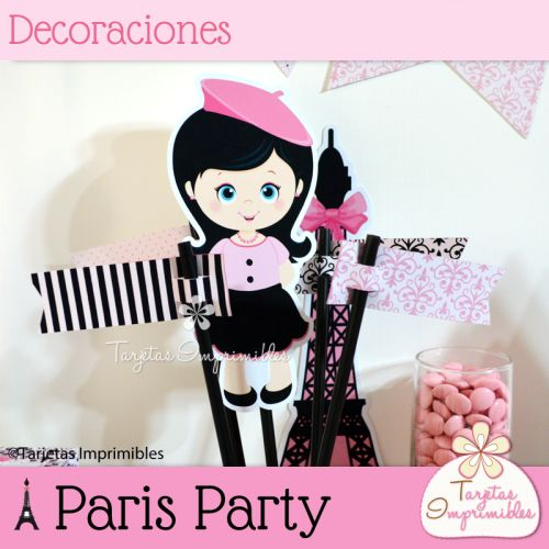 Decoraciones paris party imagenes para decorar par s - Decoraciones de bares ...