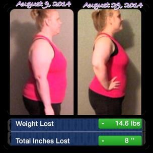 After 1 round of 21 Day fix!