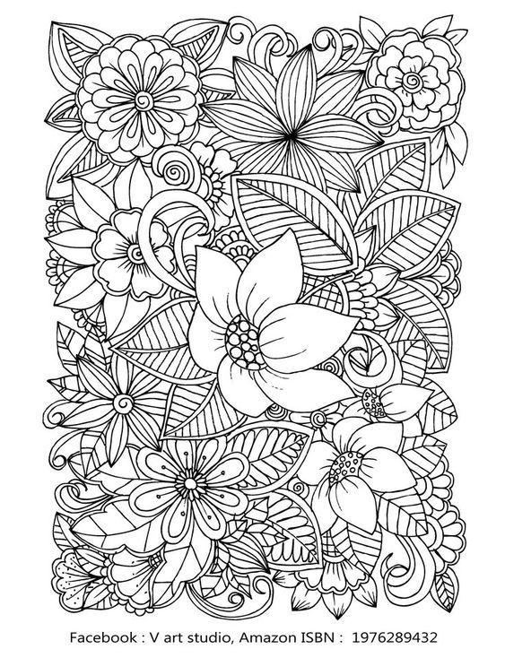 Whimsical Swirls Coloring Books For Adults Relaxation Magic Floral Swirls Mandala Zum Ausdrucken Kostenlose Ausmalbilder Ausmalbilder