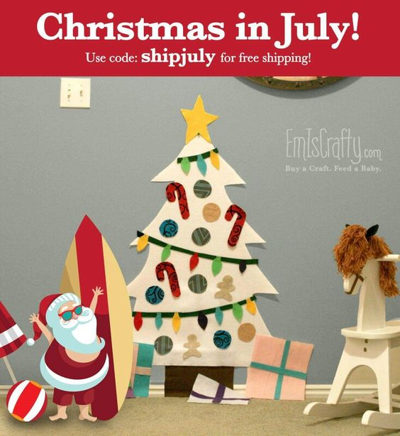 Christmas in July! Easy tree.