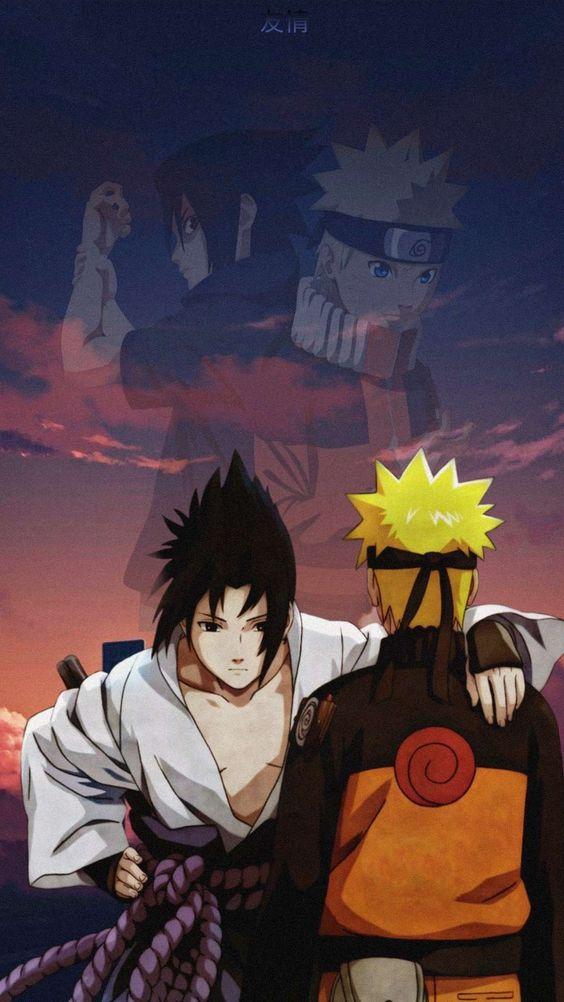 Naruto y Sasuke reencuentro en Naruto Shippuden