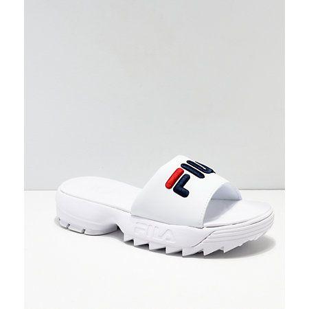 womens fila disruptor slide sandal