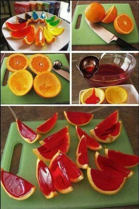 Fun #Halloween party food: These jelly orange slices are perfect for teething toddlers