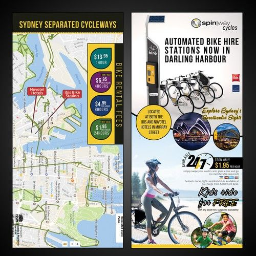Design A Catchy Flyer For An Automated Bike Hire Station Postcard