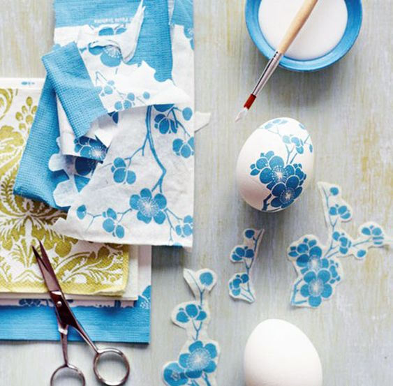 Decoupage Easter Eggs | 40 Creative Easter Eggs: