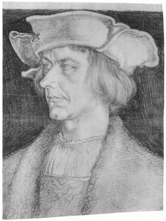 Artist: Dürer, Albrecht, Title: Porträt eines Mannes (Paulus Hofhaimer oder Hans Tucher), Date: ca. 1518-1520