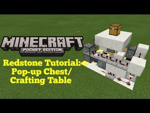 Minecraft Pocket Edition Redstone Tutorial Hidden Pop Up Chest