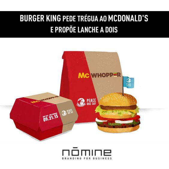 A ação foi uma surpresa. O McDonald's ainda precisa dizer se aceita ou não criar esse sanduíche em parceria... Continue lendo: http://goo.gl/AuB2ij