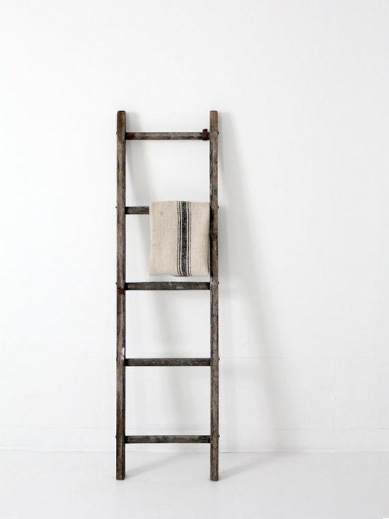 Wood Ladder Antique Wood And Ladder On Pinterest