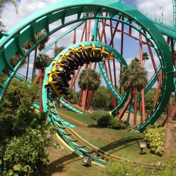 Kumba Roller Coaster At Busch Gardens Dizzy Amusement Pinterest Loch Ness Monster