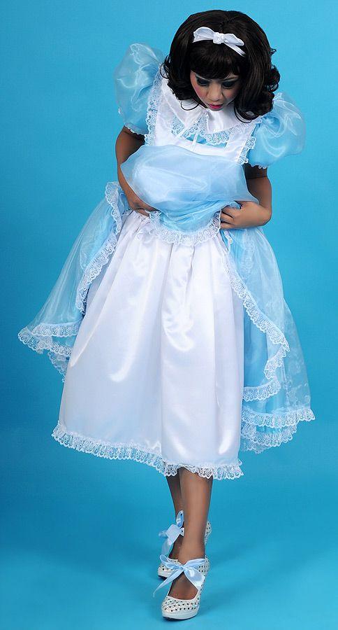 Alice in Wonderland Long Sissy Dress