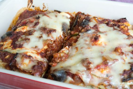 """Ratatouille Lasagna - made with zucchini """"noodles"""" instead of pasta..."""