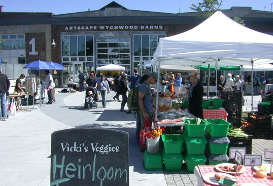 Wychwood Barns Farmer's Market in Toronto. Tonnes of fresh produce, grown locally, all in one place