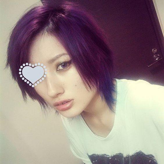 y u k k y ✡ @yukky_n0w07 紫ガールは前髪伸...Instagram photo | Websta (Webstagram)