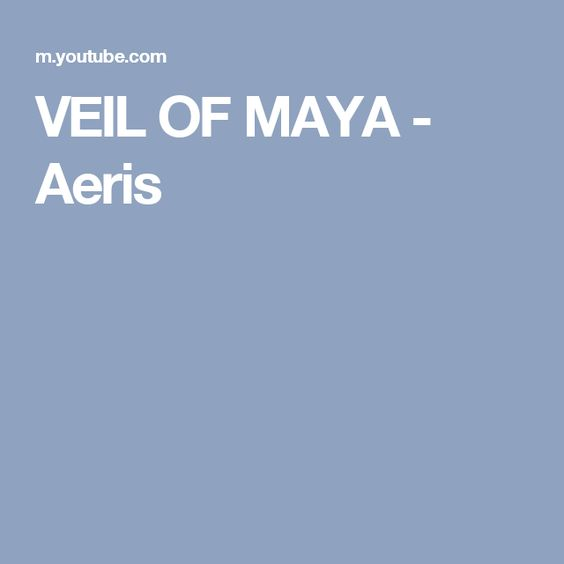 Veil Of Maya Aeris Music Videos Veil Music