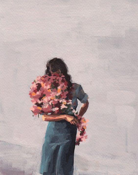 Niño de las flores. Lámina giclée de ClareElsaesser en Etsy